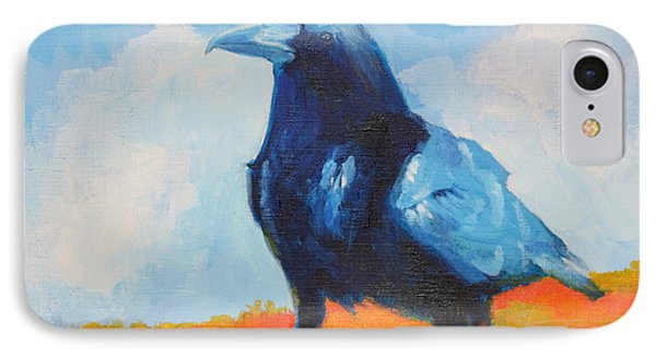 Blue Raven IPhone Case