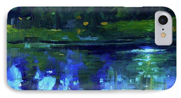 Blue Reflection IPhone Case by Nancy Merkle