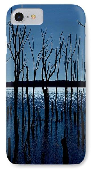Blue Reservoir - Manasquan Reservoir Phone Case by Angie Tirado
