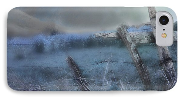 IPhone Case featuring the painting Blue Ridge Morning by Gray  Artus