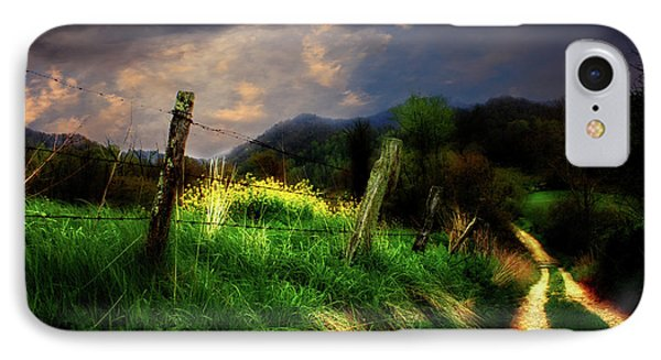 IPhone Case featuring the photograph Blue Ridge Mountain Country Road by Gray  Artus
