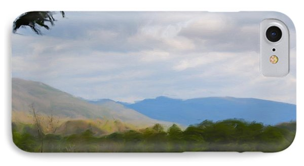 IPhone Case featuring the painting Blue Ridge Mountain by Jan Daniels