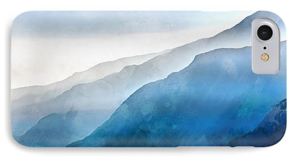 IPhone Case featuring the painting Blue Ridge Mountians by Edward Fielding