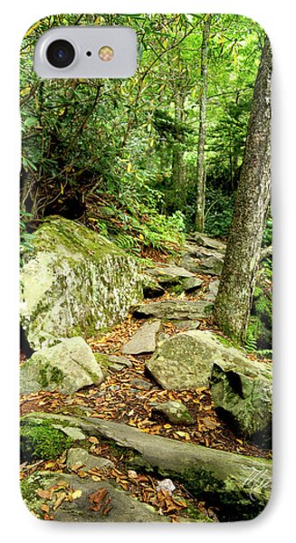 IPhone Case featuring the photograph Blue Ridge Parkway Hiking Trail by Meta Gatschenberger