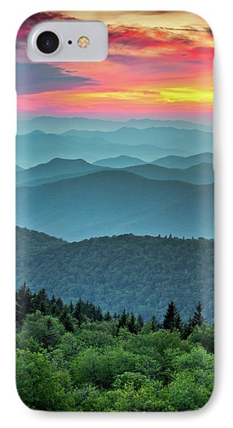 Blue Ridge Parkway Sunset - The Great Blue Yonder Phone Case by Dave Allen