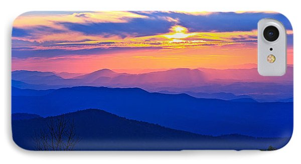 Blue Ridge Parkway Sunset, Va IPhone Case by The American Shutterbug Society