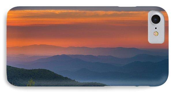 Blue Ridge Sunrise At Wintergreen  IPhone Case