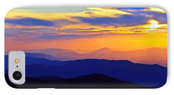 Blue Ridge Sunset, Virginia IPhone Case by The American Shutterbug Society