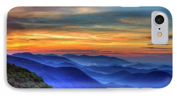 IPhone Case featuring the photograph Blue Ridges 2 Pretty Place Chapel View Great Smoky Mountains Art by Reid Callaway