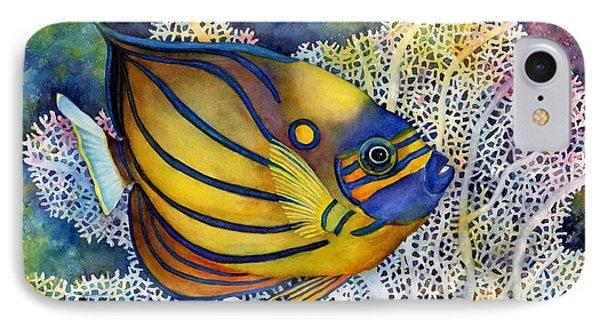 Blue Ring Angelfish IPhone Case by Hailey E Herrera