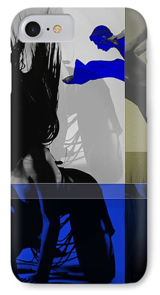 Blue Romance IPhone Case by Naxart Studio