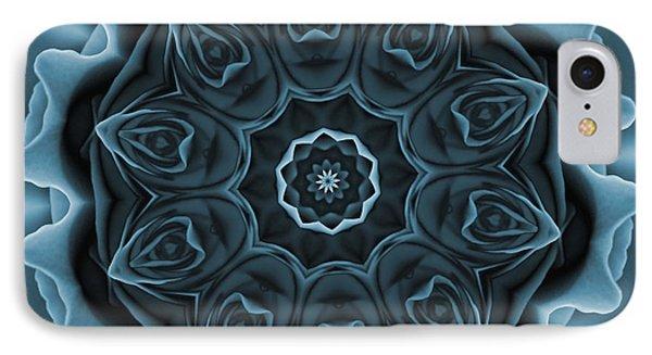 Blue Rose Mandala IPhone Case
