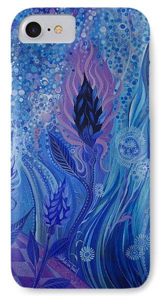 Blue Rosebud Ballroom IPhone Case by Adria Trail