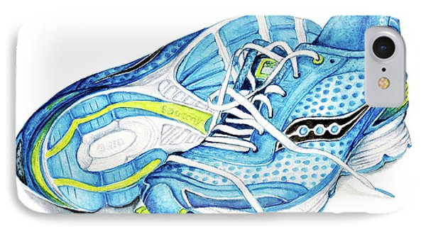 Blue Running Shoes IPhone Case by Heidi Kriel