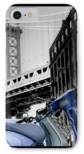 Blue Scooter IPhone Case by Silvia Bruno