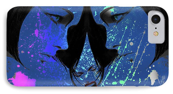 IPhone Case featuring the digital art Blue Screamer by Greg Sharpe