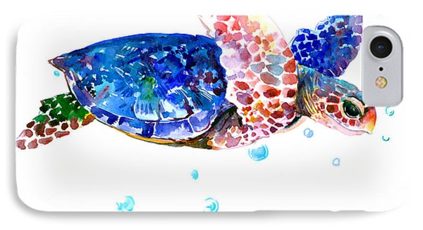 Blue Sea Turtle IPhone Case