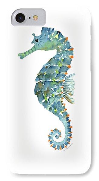 Blue Seahorse IPhone Case