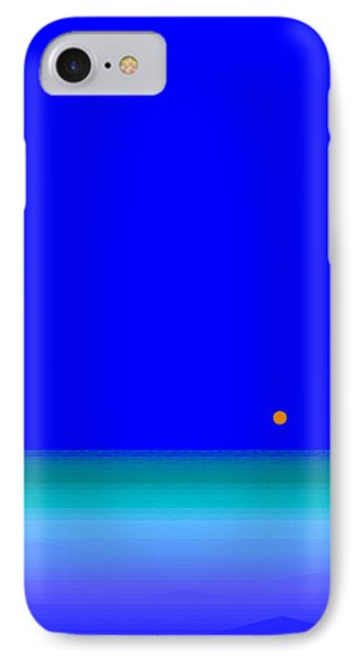 IPhone Case featuring the digital art Blue Seas by Val Arie