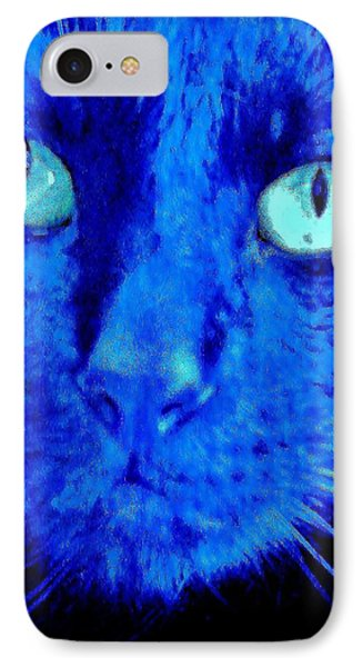 IPhone Case featuring the photograph  Blue Shadows by Al Fritz