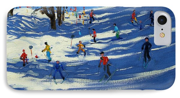 Blue Shadows Phone Case by Andrew Macara