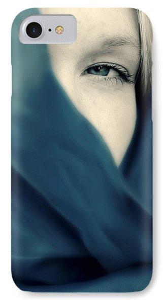Blue Shawl #02953 IPhone Case by Andrey  Godyaykin