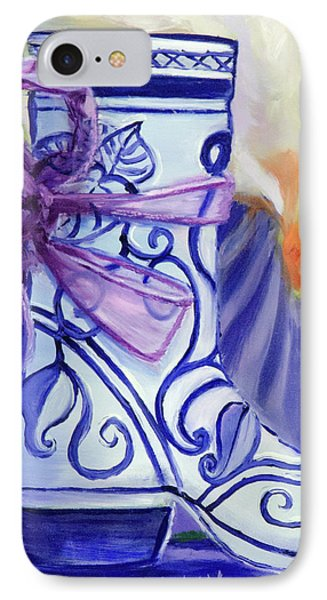 Blue Shoe, Painting Of A Painting IPhone Case