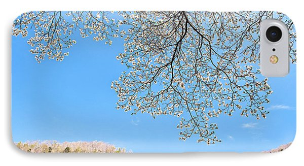 Blue Skies And Dogwood Phone Case by Tamyra Ayles