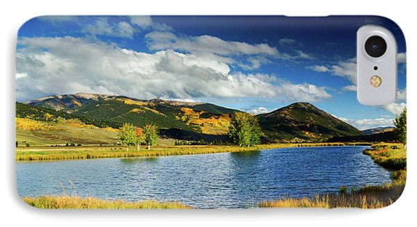 IPhone Case featuring the photograph Blue Skies Over Crested Butte by John De Bord