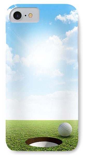Blue Sky And Putting Green IPhone Case