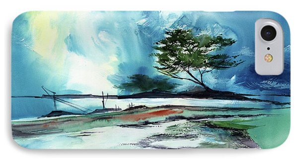 IPhone Case featuring the painting Blue Sky by Anil Nene