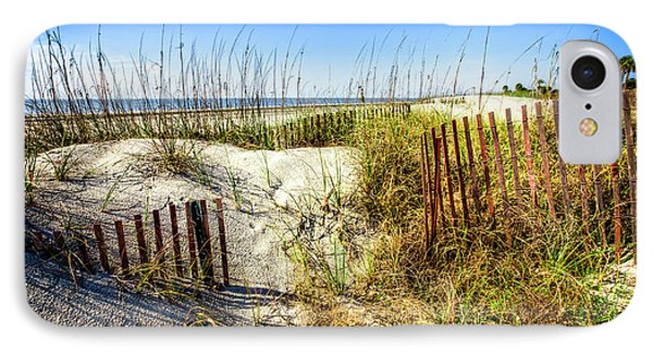 IPhone Case featuring the photograph Blue Sky Dunes by Debra and Dave Vanderlaan