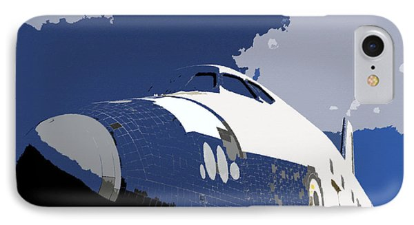 Blue Sky Shuttle IPhone Case by David Lee Thompson