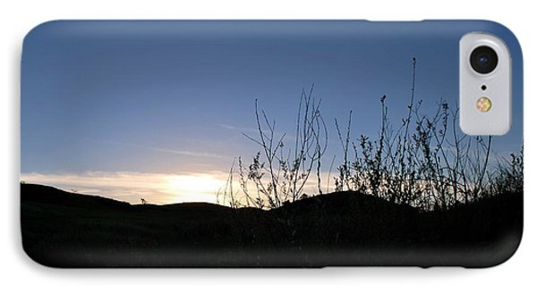 IPhone Case featuring the photograph Blue Sky Silhouette Landscape by Matt Harang