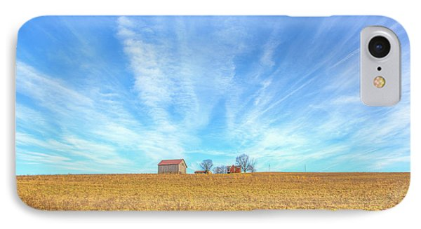 IPhone Case featuring the digital art Blue Skys And Yellow Fields by Randy Steele