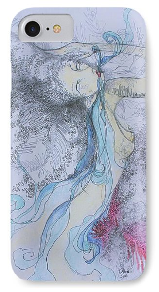 Blue Smoke And Mirrors IPhone Case by Marat Essex