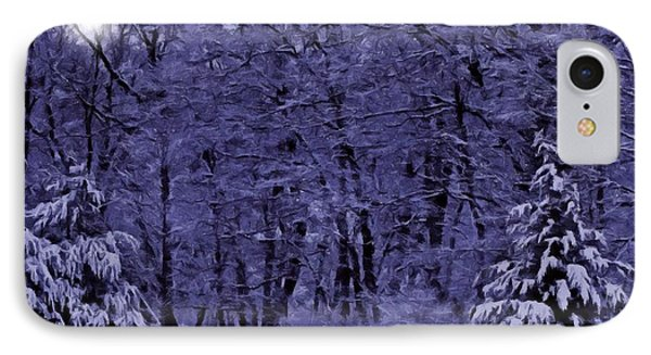 IPhone Case featuring the photograph Blue Snow by David Dehner