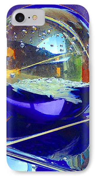 IPhone Case featuring the digital art Blue Sphere by Jana Russon