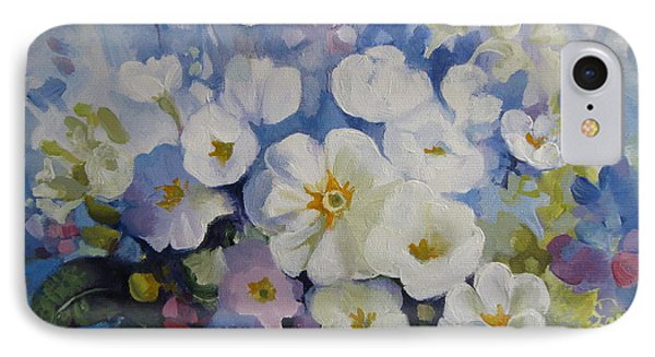 IPhone Case featuring the painting Blue Spring by Elena Oleniuc