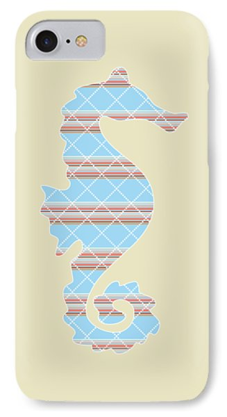 Blue Stripe Pattern Aged IPhone Case by Christina Rollo
