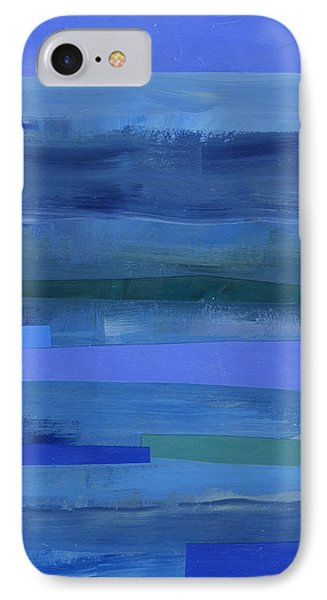 Blue Stripes 1 IPhone 7 Case by Jane Davies