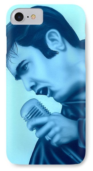 IPhone Case featuring the painting Blue Suede Shoes by Darren Robinson