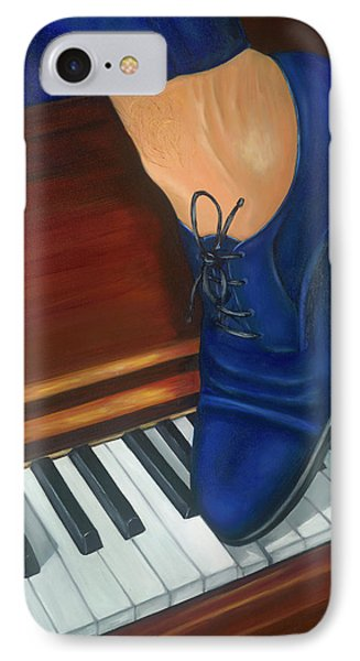 IPhone Case featuring the painting Blue Suede Shoes by Marlyn Boyd