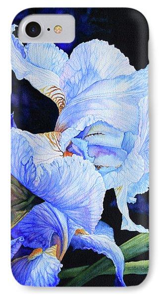 Blue Summer Iris Phone Case by Hanne Lore Koehler