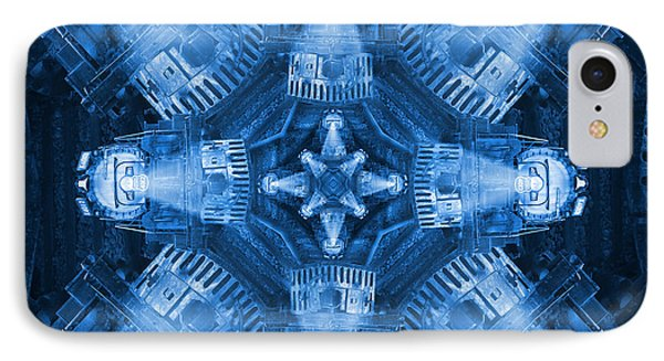 Blue Train Abstract 4 IPhone Case