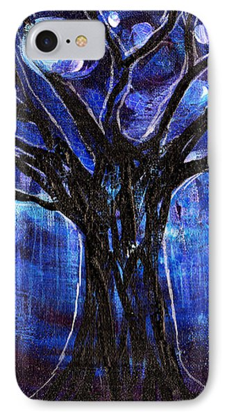 Blue Tree At Night IPhone Case