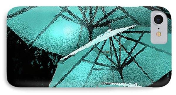 Blue Umbrella Splash IPhone Case