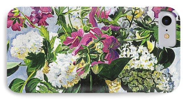 Blue Vase Arrangement IPhone Case by David Lloyd Glover