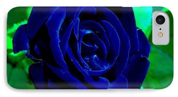 Blue Velvet Rose IPhone Case by Samantha Thome
