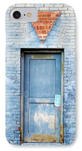 IPhone Case featuring the photograph Blue Wall Blue Door by Denise Beverly